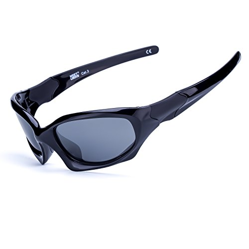 MEETLOCKS Polarized Sunglass Men UV 400 Lens TR90 Unbreakable Memory Frame Running Racing Fishing Golf Baseball Outdoor Sports