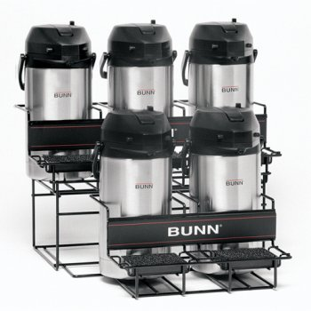 BUNN Universal Airpot Rack for 3 Upper and 2 Lower ()