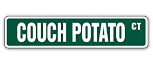 Couch Potato Street Sign hombre sala hombre cueva Signs regalo