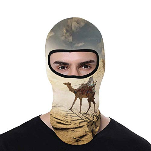 INTERESTPRINT Egypt Camel Near Pyramid and Columns Balaclava Breathable Full Face Mask Wind Dust Pollution Rain Sun Protection