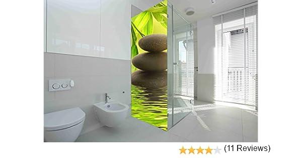 Vinilo para Mamparas baños Piedras de Rio  Varias Medidas 185x60cm   Adhesivo Resistente y de Facil Aplicación   Pegatina Adhesiva Decorativa de Diseño Elegante : Amazon.es: Hogar