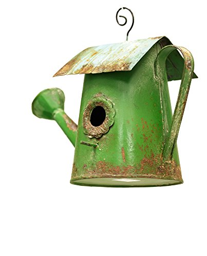 OSW Watering Can Birdhouse - Green Birdhouse