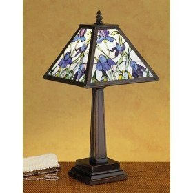 19 Inch H Mosaic Iris Accent Lamp Table - Bronze Iris Lamp Table
