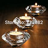 Autumn Water ! Wedding Gifts,Crystal Diamond Shape Candle Holder Table Decoration,2PCS/LOT