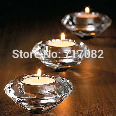 Autumn Water ! Wedding Gifts,Crystal Diamond Shape Candle Holder Table Decoration,2PCS/LOT by Autumn Water