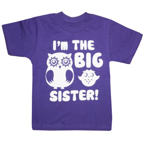 Happy Family Clothing Little Girls' I'm The Big Sister T-Shirt (2T, Purple)
