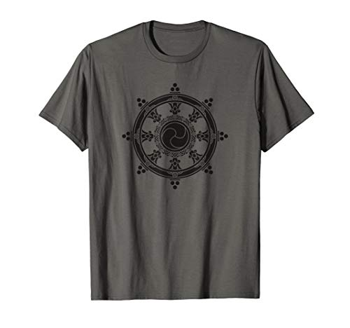 Dharma Wheel Buddhist Meditation Yoga Buddha T-Shirt
