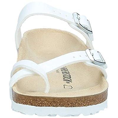 Birkenstock Womens Mayari Slide Sandal, White, 37 M EU | Flats