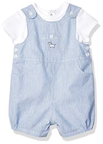 (Little Me Baby Boys Shortall Set, Blue, 9)