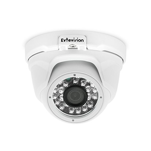 Evtevision 1080P 2.0MP AHD Camera IR Metal Dome Security Camera Day Night Vision 24 IR Leds 65Feet/20M IR Distance Waterproof Outdoor/Indoor Wide Angle 3.6mm Lens -Fits for AHD DVR Only