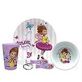 Zak Designs FANA-5480-AMZ Disney Jr. Dinnerware Sets 5 Piece, Fancy Nancy 5pc