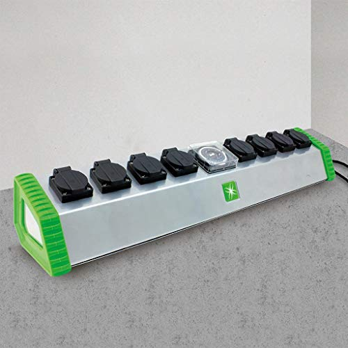 Lumii Contactor Relay 13 Amp 2 4 or 6 Socket with Timer Hydroponic Lights HPS MH (8 Soctor)