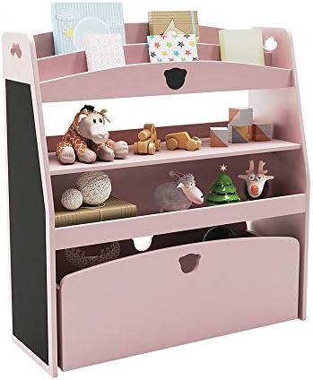 Bestier Kids Wooden Toy Storage and Bookshelf