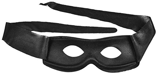 [Simplicity Men / Women Black Costume Villain Eye Mask] (Robber Costume Halloween)