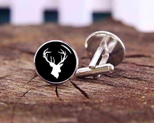69009cf5f77d Death Devil Art Picture Cuff Links,Rustic Deer Head Cufflinks, Deer  Cufflinks, Stag