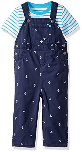 Carter's Baby Boys' 2 Piece Overalls Set (Baby) - Blue - Newborn - Newborn Boys 2 Piece Overall