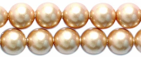 (Swarovski 5810 Crystal Round Pearl Beads, 5mm, Vintage Gold, 50-Pack)