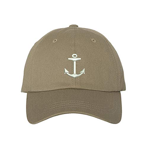 Anchor Baseball Cap - Dad Hat Unisex (Khaki) ()