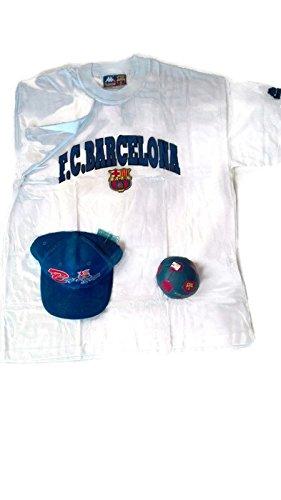 Pack FCBarcelona Vintage Gorra + Mini pelota + Camiseta XL + Regalo Barça: Amazon.es: Deportes y aire libre