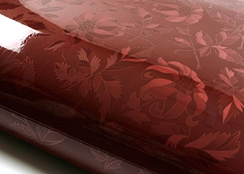 ROSEROSA Peel and Stick PVC Instant Floral Decorative Self-Adhesive Film Countertop Backsplash Olivia Red Wine (PGS9200-6 : 1.96 Feet X 6.56 Feet)
