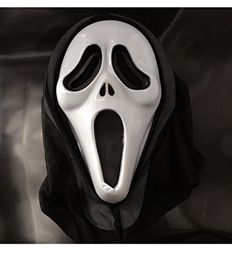 micrkrowen Halloween Party Cosplay mask Wacky Prom Dressup Parties Props Plastic (Screech)]()