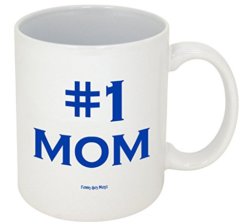 Funny Guy Mugs #1 Mom Ceramic Coffee Mug, White, 11-Ounce