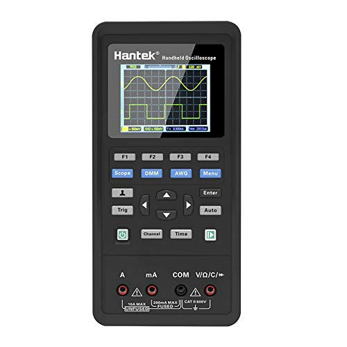 Splendidsun Handheld 2C42 Oscilloscope, Hantek 3in1 Digital Oscilloscope+Waveform Generator+Multimeter, USB 2 Channels 40mhz 70mhz LCD Display Test Meter
