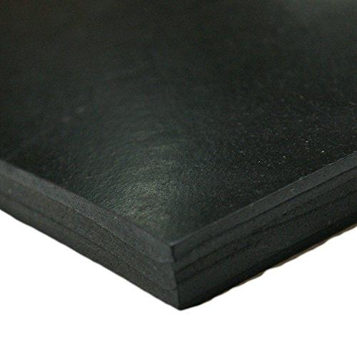Styrene Butadiene Sheet Black 0.125 Thick 36 Width 60 Length 75A Durometer