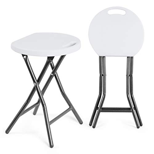 Pleasing Tavr Folding Stool Set Of Two 18 1 Inch Height Light Weight Theyellowbook Wood Chair Design Ideas Theyellowbookinfo