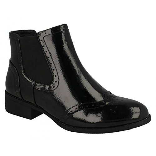 Heel Ankle On Spot Mid Black Womens Boots Ladies rSSnTO