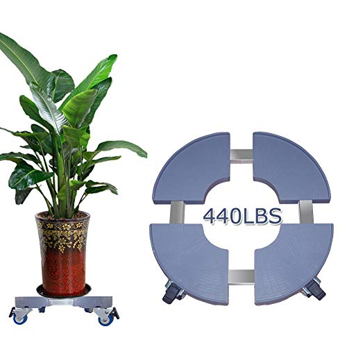 Plant Caddy with Wheels Large Plant Caddy Plant Dolly Heavy Duty Rolling Plant Caddy Outdoor Plant Stand Garden Plant Caddy Indoor Plant Dolly 20inch 440lbs Capacity