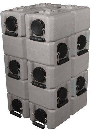 Waterbrick Emergency Food Water Storage 3.5 Gallon Stackable Containers (48 w/2 Spigots) (Tan) by WaterBrick