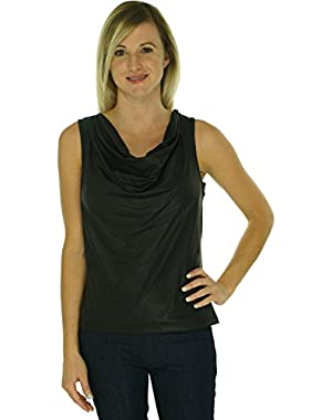 Colwl Neck Women's Medium Blouse Black M