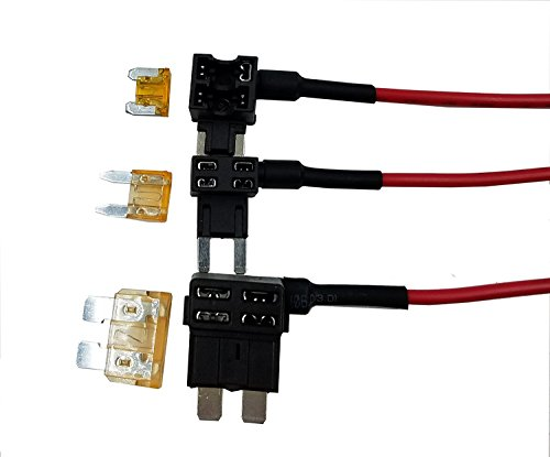 Fuse Adapter - Moeye 12V Car Add-a-circuit Fuse Adapter Mini TAP ATM APM Blade Fuse Holder, 3 Pack