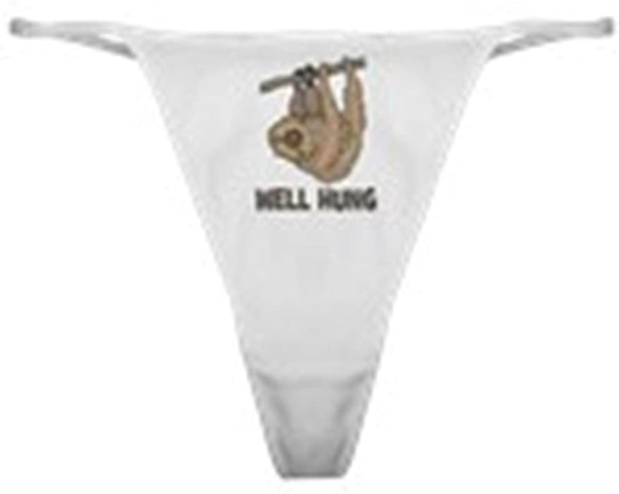 7e0bbf99c12b CafePress - The Well Hung Sloth - Thong Underwear, Funny Womens Panties  White