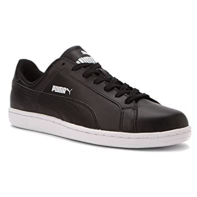 Puma Smash L Mens Fashion Casual Lace up Black White Trainers Shoes (7 UK 80b3c66f9