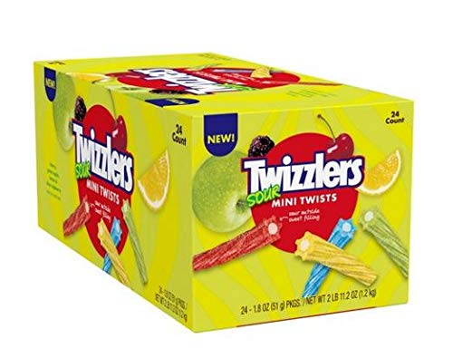 Twizzlers Sour Mini Twists 1.8 oz, 24 ct. A1