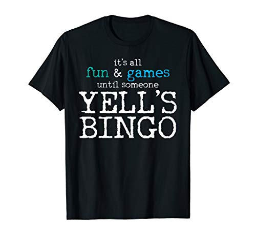 (Bingo Shirt Winner Yell's Bingo Tee Bingo Winning Card Gift )