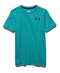 Under Armour Boys' Charged Cotton, Black/Steel, Youth Medium