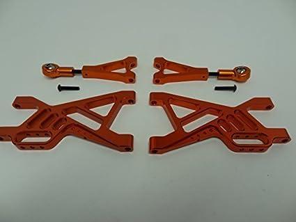 Rovan Baja KM baja 5b CNC Aluminum Rear Suspension Arm Kit fit for  HPI Baja