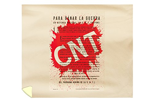 CNT Vintage Poster Spain c. 1936 (88x104 King Microfiber Duvet Cover) by Lantern Press
