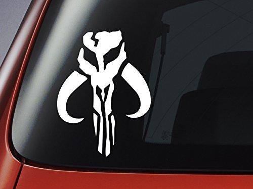 port/átil adhesivo /Boba Fett/ /Adhesivo de vinilo/ /blanco Mandalorian Logo/ ventana pared Star Wars/ /Coche
