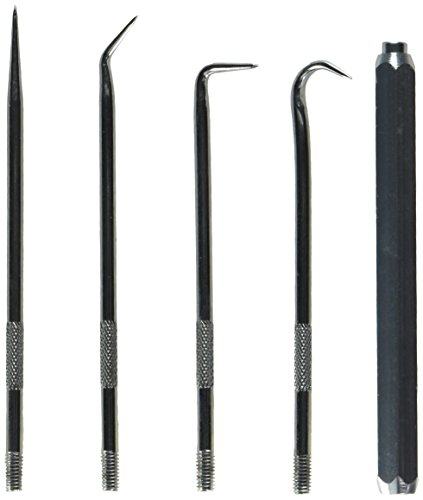 SE 10255HS5 5-in-1 Interchangeable Pick Set with - Magnet Interchangeable