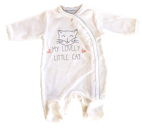 Pijama bébe en terciopelo - Prematuro- 00 mes: Amazon.es: Ropa y accesorios