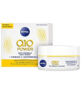 NIVEA Q10 POWER Anti-Wrinkle + Firming Day Moisturizer with SPF 30 for Younger Looking Skin, 50 mL jar (B00FSBBAK0)   Amazon Products