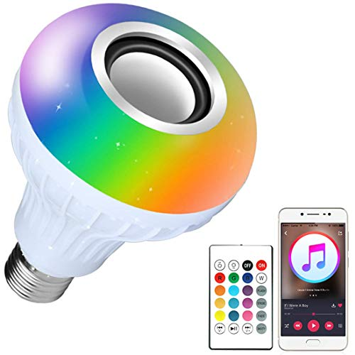 Praxan Led Bulb with Bluetooth Speaker Music Light NR01 Bulb Colorful Lamp with Remote Control for Home | Bedroom…