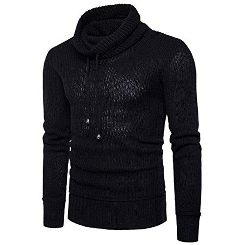 Slim Lose Bluester Bluse Pullover Strickwaren Pullover Fit Rollkragen Schwarz Pullover Langarm Herren Outwear 556wq10