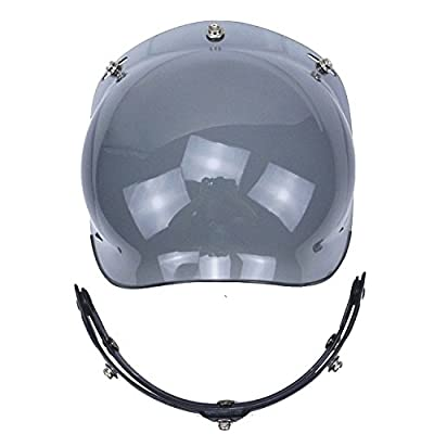 Motorcycle Helmet Bubble Shield with Flip Adapter (Smoke): Automotive