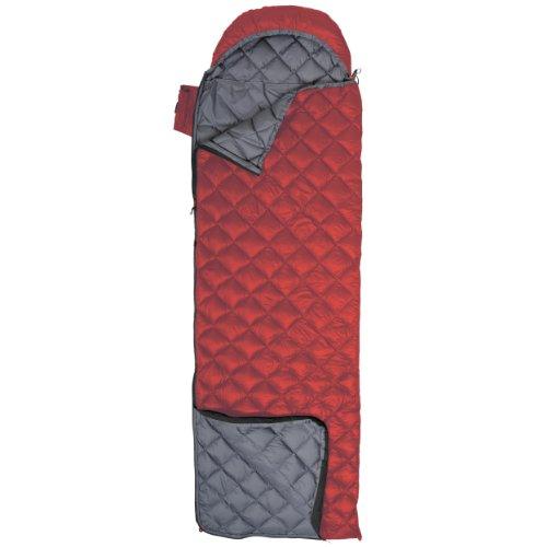 Exped DreamWalker 250 Sleeping Bag, Red/Grey, Long, Left, Outdoor Stuffs
