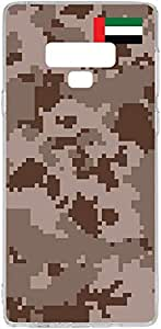 Switch Galaxy Note 9 Clear Case UAE National Day - UAE Army Camouflage